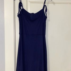 Topshop Dresses - Topshop navy blue button dress